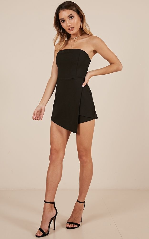95fc26df22 Caught My Eyes Playsuit In Black Produced in 2019