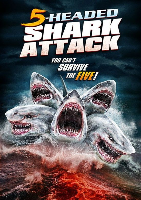 5 Headed Shark Attack 2017 Tubarao Filmes De Terror