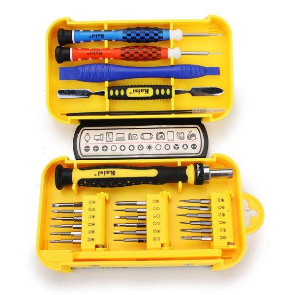 Kaisi 24 en 1 Precision Cell Phone Home Appliances Repair Screwdrivers Pinzas herramientas Set
