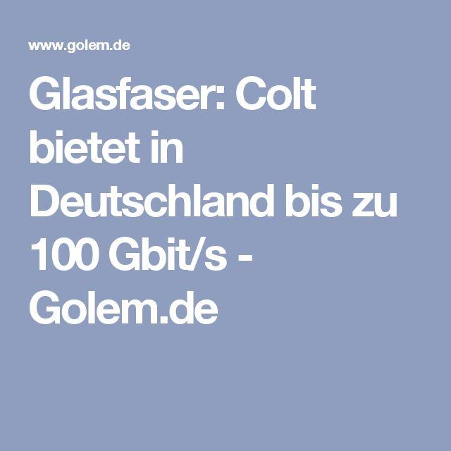 Glasfaser: Colt bietet in Deutschland bis zu 100 Gbit/s - Golem.de