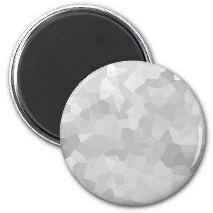 Modern Grayscale - Gray and White Polygon Shape Ab Magnet - college dorm gifts student students accessories freshmen