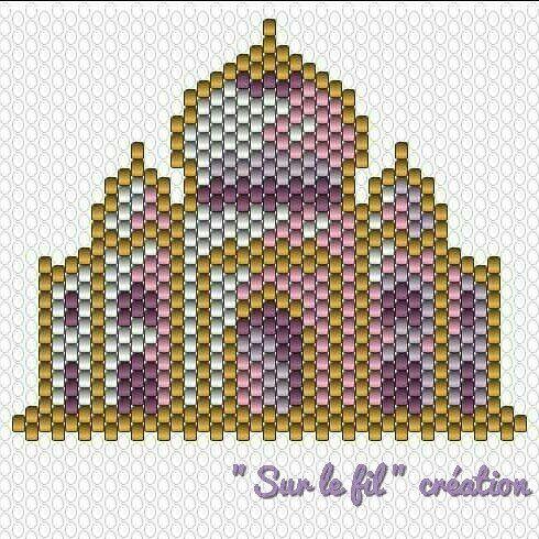 Et voilà le diagramme tant attendu du Taj Mahal ! Amusez-vous bien ! Et n'oubliez pas de me taguer si vous le reproduisez. #miyukibeads #miyukis #miyuki #perlesmiyuki #perleaddict #tissagemiyuki #brickstitch #diagramme #surlefilcreation #motifsurlefilcreation #handmade #faitmain #tajmahal #inde