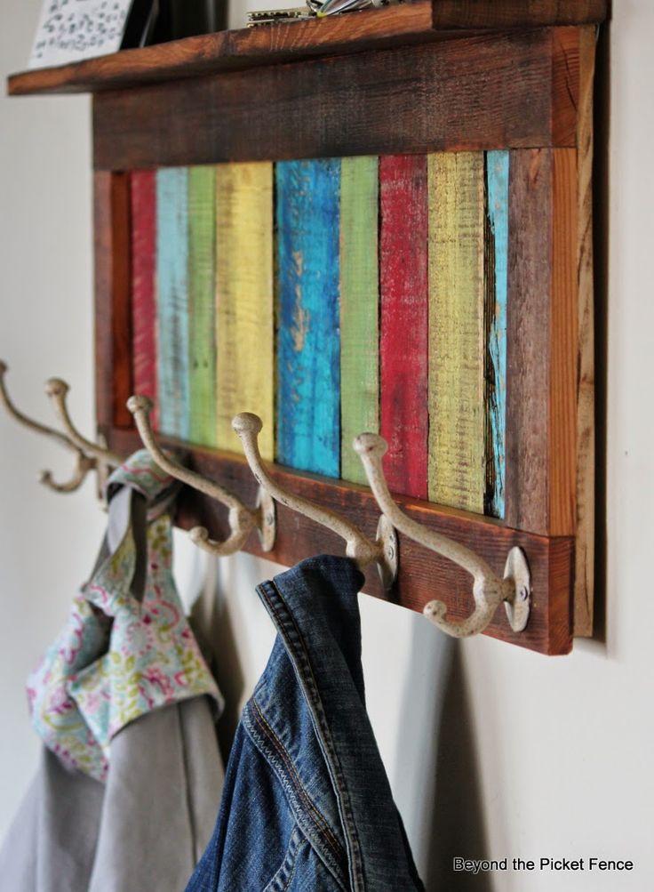 reclaimed wood coat hook http://bec4-beyondthepicketfence.blogspot.com/