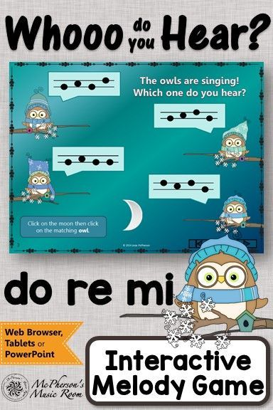 Elementary Music Game! Perfect for your music lesson plans working with solfege (do/re/me)! Fun melody game! #elmused #musicgames #musiced #McPhersonsMusicRoom #musiced
