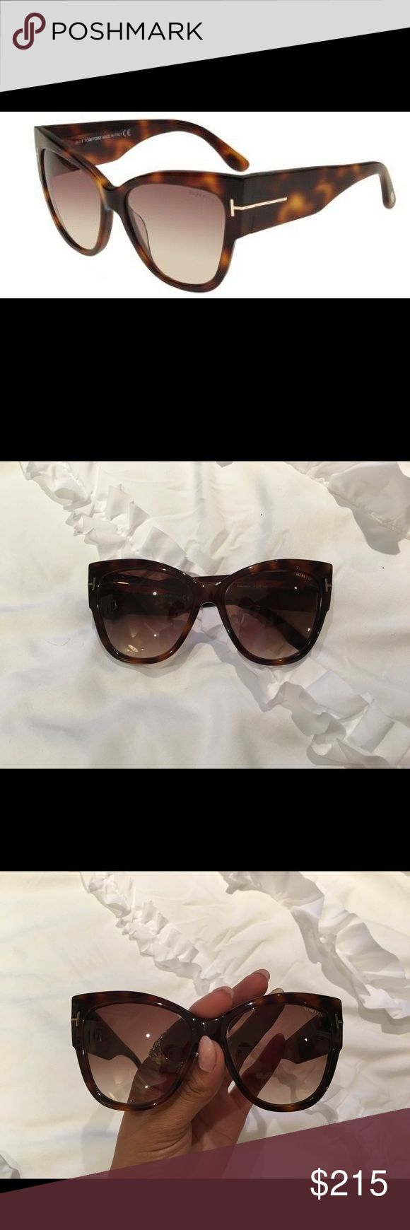Tom Ford Anoushka FT 0371 *** AUTHENTIC *** blonde/Havana brown Amber shaded | OVERSIZED | CHIC Tom Ford Accessories Sunglasses