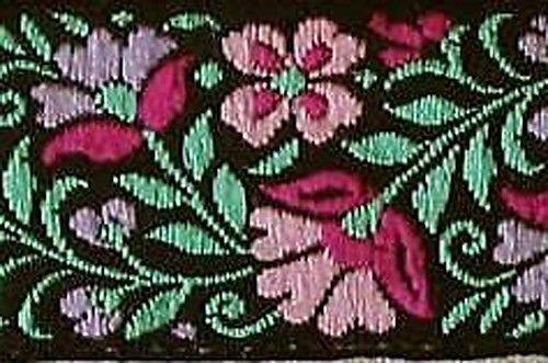 Jacquard, Ribbon, Braid Trim. Wild Flowers