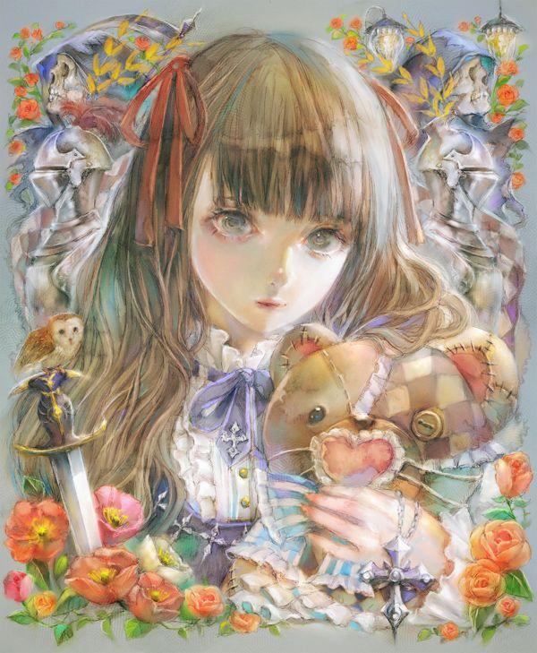 YOGISYA, Stuffed Bear, Cross, Holding Object, Red Flower, Bear