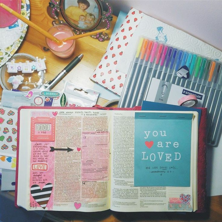 """Journaling Bibles aren't just for drawing in. Washi tape anything in that speaks to you through Scripture. Think """"art journaling through the Scriptures IN YOUR SCRIPTURES."""""""
