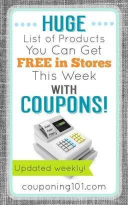 87 best how to coupon images on pinterest budgeting tips frugal huge list of products you can get free in stores this week with coupons fandeluxe Image collections