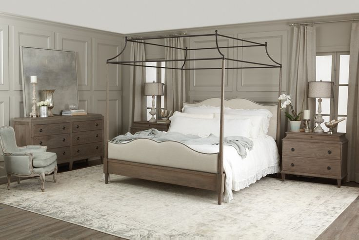 Our bed! Can't wait to get it in our new house! Bernhardt Furniture | Auberge Collection | MacQueen Home