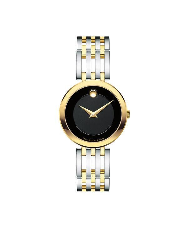 Movado Women's Esperanza Two-Tone Stainless Watch with Black Museum Dial 0607053
