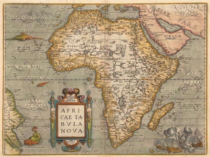 Ancient African | 1584 1584 map ortelius abraham 1527 1598 africae tabula noua ...