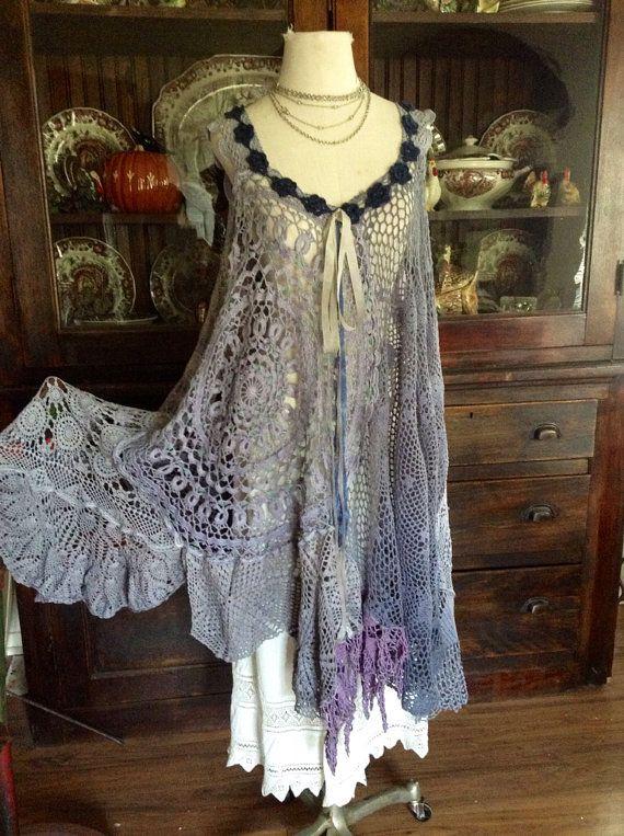 Luv Lucy crochet dress Cripple Creek Dress by BlackCrowLeatherCo