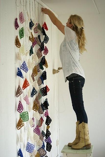 ideas para decorar paredes crochet - Buscar con Google