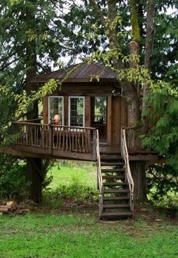 I would love our wee ones too have a real tree house! Something I dreamed of as …