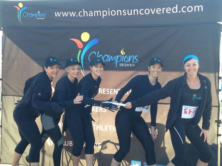 Team relay running - sport