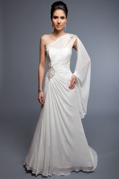 1000  ideas about Goddess Wedding Dresses on Pinterest  Flowy ...