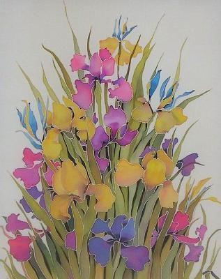 рисунки цветов для батика