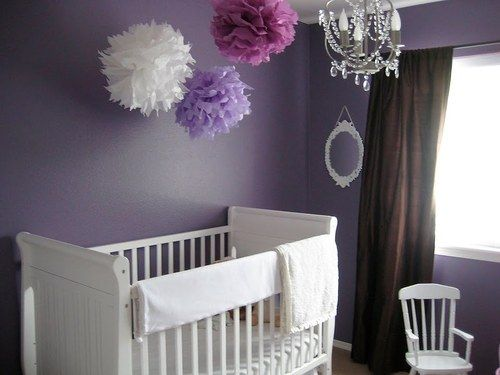 Gray Purple Nursery Would Love A Tree Decal Behind That Crib Baby Here Goes Anything Pinterest And
