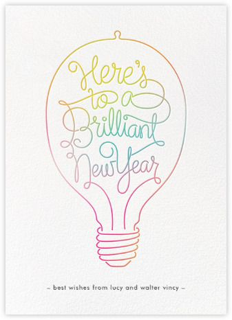 New Year cards - online at Paperless Post