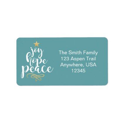 Joy Hope & Peace Christmas Address Labels - glitter glamour brilliance sparkle design idea diy elegant