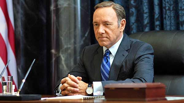 Kevin Spacey House of Cards Golden Globes Robin Wright Netflix Entertainment