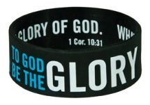 WRISTBANDS: GLORY  Size: 63 x 25 mm  Individually packaged on a backing board