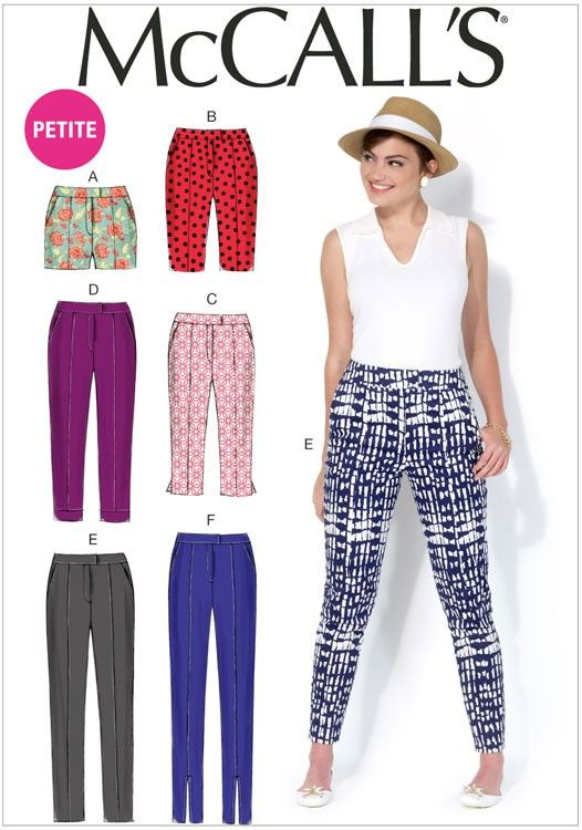 Miss Petite Shorts and Trousers McCalls Sewing Pattern No. 7098. - Sew Essential