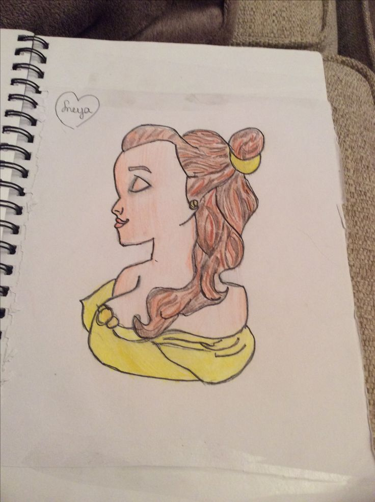 My drawing of belle of beauty and the beast.