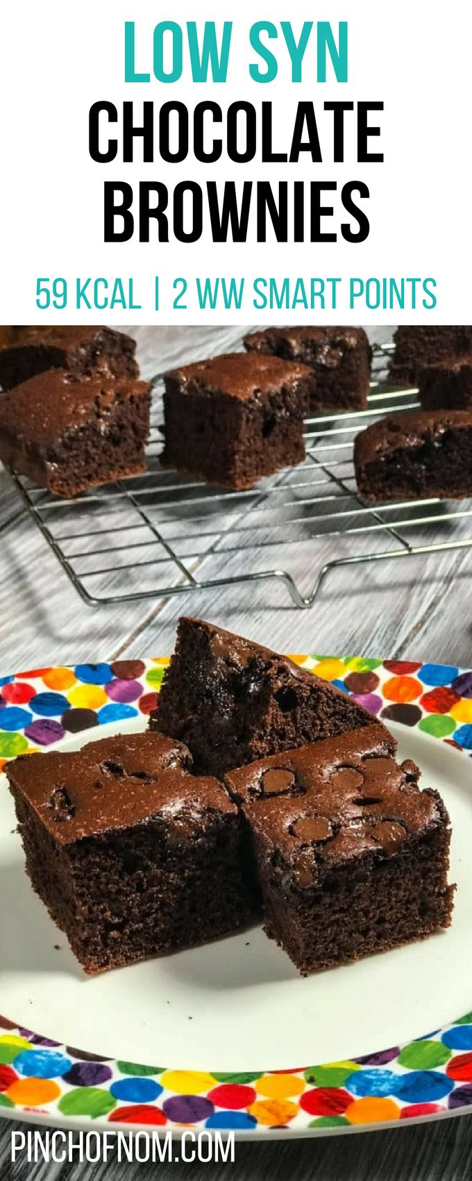 Low Syn Chocolate Brownies | Pinch Of Nom Slimming World Recipes     59 kcal | …