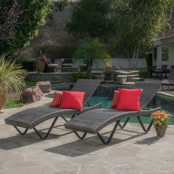 Delightful Christopher Knight Home San Marco Outdoor Wicker Chaise Lounge (Set Of 2) Awesome Design