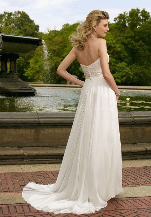 wedding dress wedding dresses-- add some sleeves and it's the perfect getaway dress