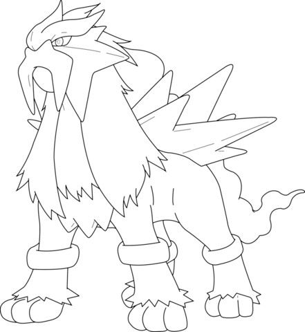 Entei Pokemon Coloring Page From Generation II Pokemon Category. Select  From 28148 Printable Crafts Of Cartoons, Nature, Animals, Bible And Many  More.