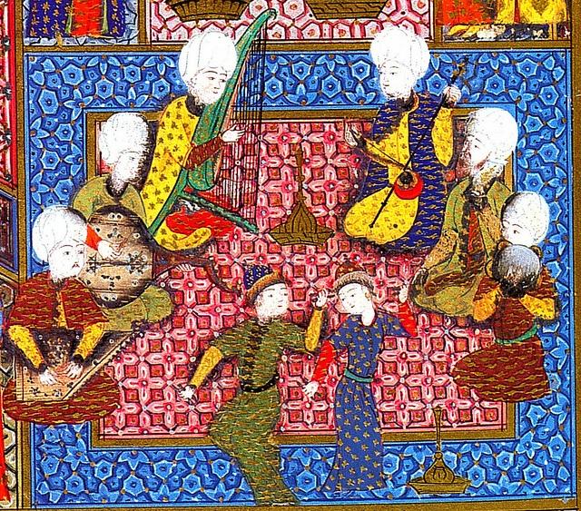 Ottoman Musical Ensemble from Süleymanname