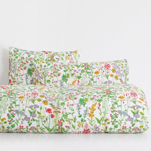 Изображение товара Белье постельное с принтом 'Ботаника'