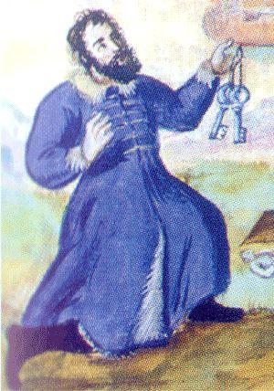 Warsaw burgomaster Lukasz Drewno wearing a giermak circa 16th century