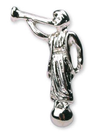 Angel Moroni Lapel Pin (Silver)