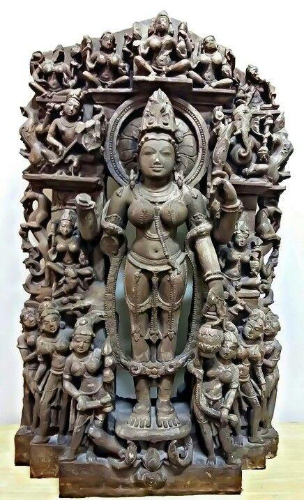 """Goddess Gauri. "" Paramar Dynasty. 11th Century CE. Bhopal Museum. M. P. ( India )."