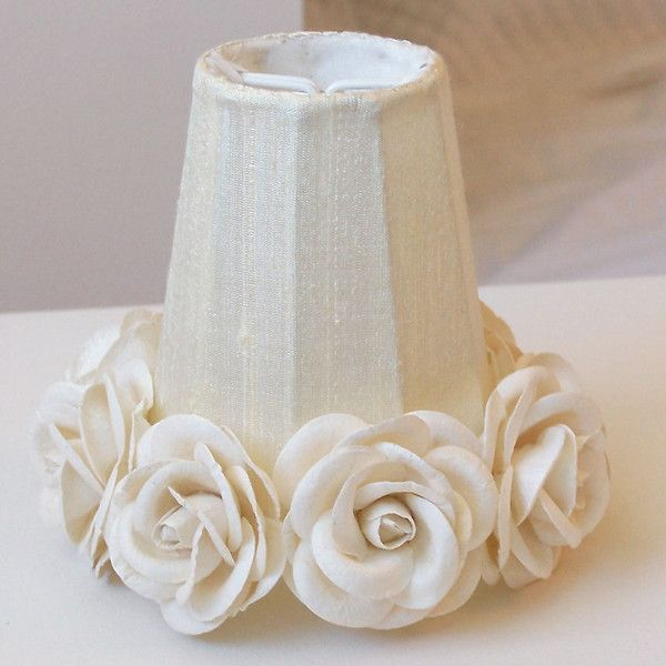 For my Standing Lamp with Cream Shade?  MAKEOVER? A Vintage Room | Cream Chandelier Shade with Roses