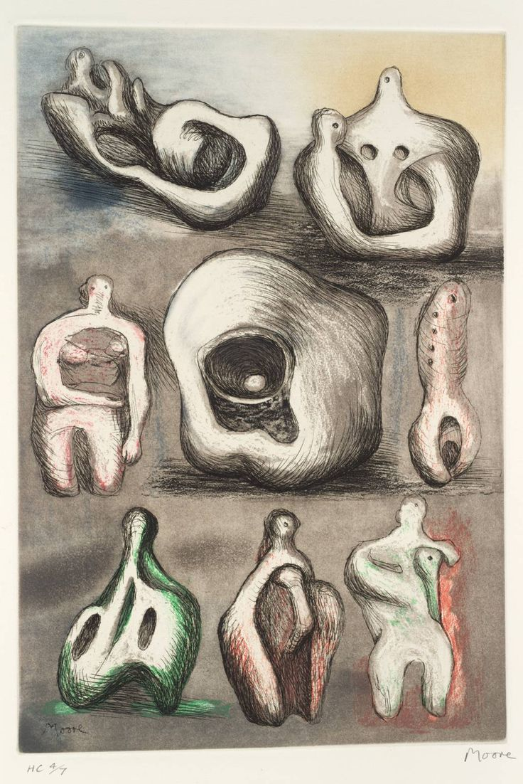 Henry Moore OM, CH, 'Eight Sculpture Ideas' 1980-81