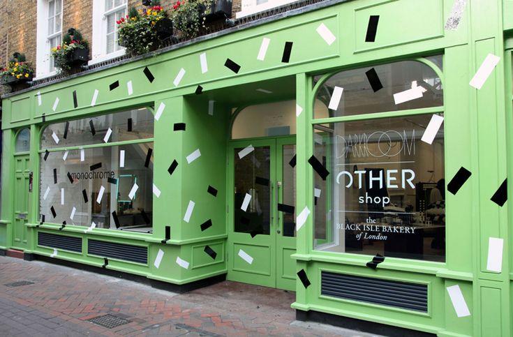 london: monochrome pop-up store location: 15 fouberts place [soho].