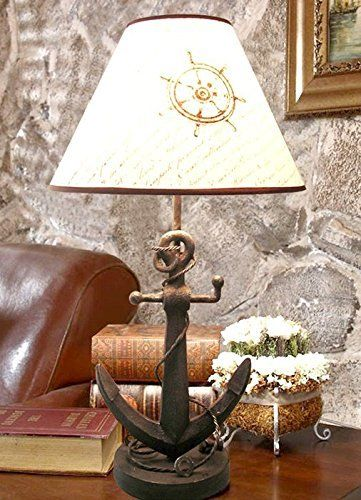 Nautical Anchor Chain Table Lamp - Beachfront Decor