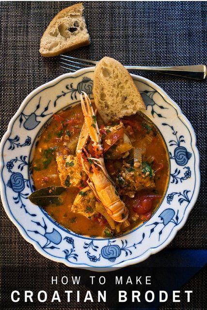Best 25 traditional croatian food ideas on pinterest serbian croatian cooking brodet recipe fish stew forumfinder Images