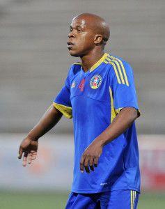 Siyabonga Mduli of Swaziland during the 2016 Cosafa Cup Semifinal  match between South Africa and Swaziland at Sam Nujoma Stadium in Windhoek Namibia on 22 June, 2016 ©Muzi Ntombela/BackpagePix