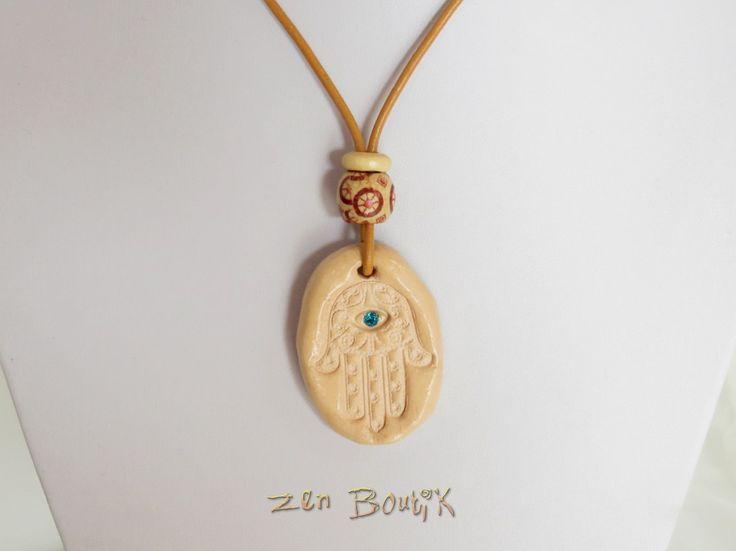 Collier Olfactif, Main de Fatma, Diffuseur Huile Essentielle, Parfum, Bijoux Zen Boutik, Cadeau Zen : Collier par zenboutik