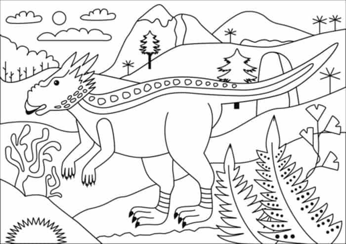 Dinosaur Coloring Pages Online Designs Trend