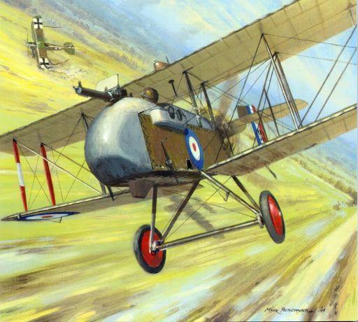 Captain John Andrews , No 24 Sqn, RFC in his DH2 downs the Albatros of Oberleutnant Stefan Kirmaier, of Jasta Boelcke, 2 November 1916.