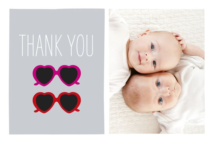 Having twin girls means double the kisses, double the smiles and double the fun. Be sure to give double the thanks with our lovely Sweetheart Twins baby thank you cards! These darling thank you cards allow you to share one of your favourite photos of your two precious little girls. #twinsbabystationery #twinsbabythankyoucards #babypersonalisedstationery