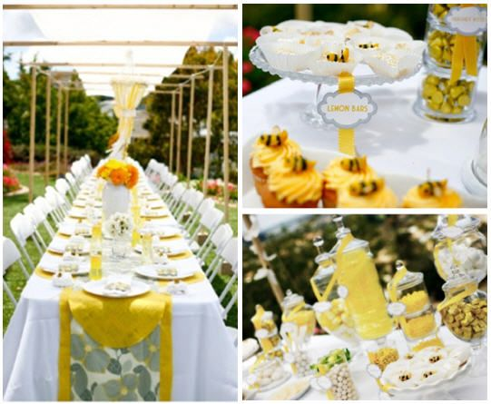a bee party: Decor, Shower Ideas, Bees, Party Ideas, Bee Shower, Baby Shower