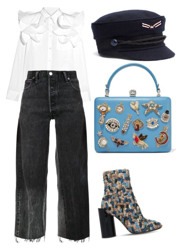 """Salute"" by ralugoii on Polyvore featuring Junya Watanabe, RE/DONE, Maison Margiela and Alexander McQueen"